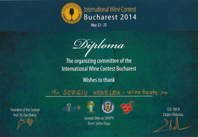 Diploma - Trofeul Marian Bugan 2013
