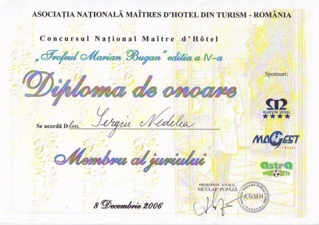 Diploma - Trofeul Marian Bugan 2006