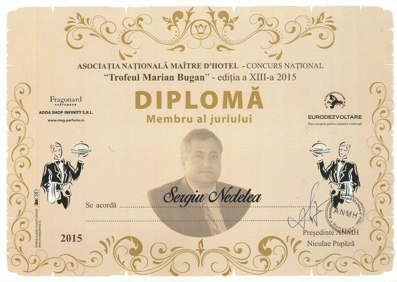 Diploma membru al juriului